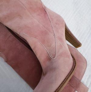 BCBGirls - Pink blush suede high heel boots